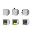 set of cartoon safes vector image