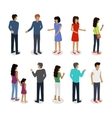 Set of Customers and Sellers Characters vector image vector image