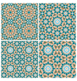 Set of mosaic patterns vector image vector image