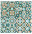 Set of mosaic patterns vector image