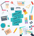 Set of school and education icons Back to scholl vector image vector image