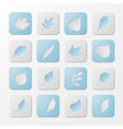 Set of square paper nature icons vector image vector image