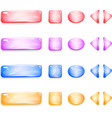 shiny glass buttons different shapes for games vector image vector image