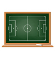 Soccer field drawn on a blackboard vector image vector image