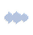 sound waves icon neon blue icon with vector image vector image