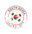 south korea sign vintage grunge imprint with flag vector image