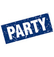 square grunge blue party stamp vector image vector image