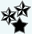 stars icons set vector image vector image