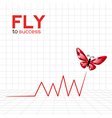 Success graphic with ruby butterfly vector image