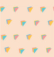 sweet pastel triple triangle pattern seamless vector image