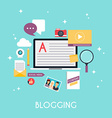 Template blogging infographics Blog concept design vector image