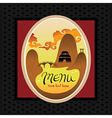 template design asian menu vector image vector image