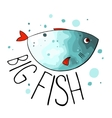 turquoise fish vector image vector image