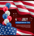 usa independence day celebration poster vector image vector image