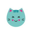 with cat in flat style vector image vector image