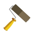 yellow paint roller icon tool vector image vector image