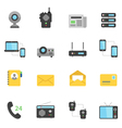 Color icon set - communication devices vector image