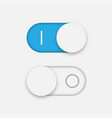 on and off toggle switcher vector image