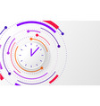abstract background with color circle line