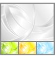 Abstract waves collection vector image