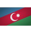 azerbaijan flag pin vector image vector image