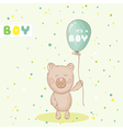 bashower or arrival card - with babear vector image vector image