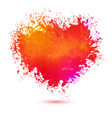bright colors watercolor heart vector image vector image