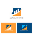 business finance company logo vector image vector image