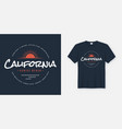 california venice beach t-shirt and apparel design vector image vector image