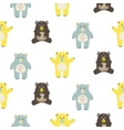 Cartoon fun baby bears seamless pattern vector image vector image