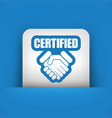 certified concept icon vector image