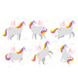cute unicorn fairytale animal vector image vector image