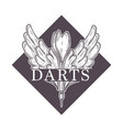 darts championship tournament sketch logo vector image