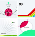 design set of colourful abstract elements vector image
