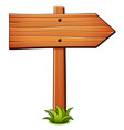 direction wood sign cartoon vector image vector image