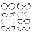 Eyeglasses Silhouette vector image vector image