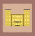 flat shading style icon school building vector image