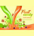 fruit candy 100 percent natural landing page vector image vector image