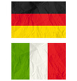 German and Poland flags vector image