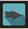Gray arrow icon flat style vector image vector image