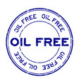 grunge blue oil free word round rubber seal stamp vector image vector image