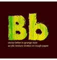 grungy letter B vector image