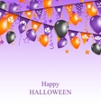 Halloween Background with Hanging Bunting vector image vector image