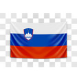 hanging flag slovenia republic slovenia vector image vector image