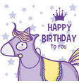 happy birthday card cute cartoons vector image vector image