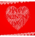 happy valentine day card vector image