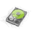 Hard drive sketch for your design vector image vector image