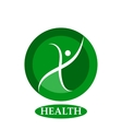 Health character - logo template concept vector image vector image