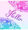 Hello Border Blue and Purple White 2 vector image vector image