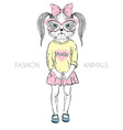 humanimal doggy girl vector image